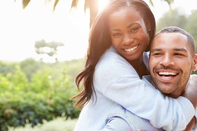 couple avec pensée positive